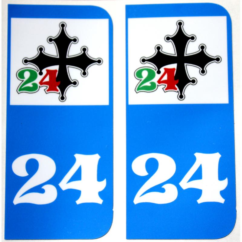Sticker 24 de plaques d'immatriculation