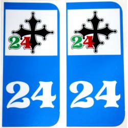 Sticker 24 de plaques...